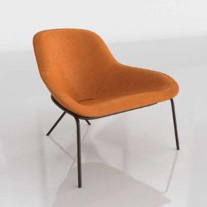 Conranshop Cross Leg Lounge Chair Legacy Tan Leather