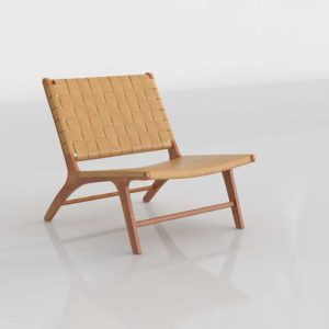 Wisteria Woven Leather Lounge Chair