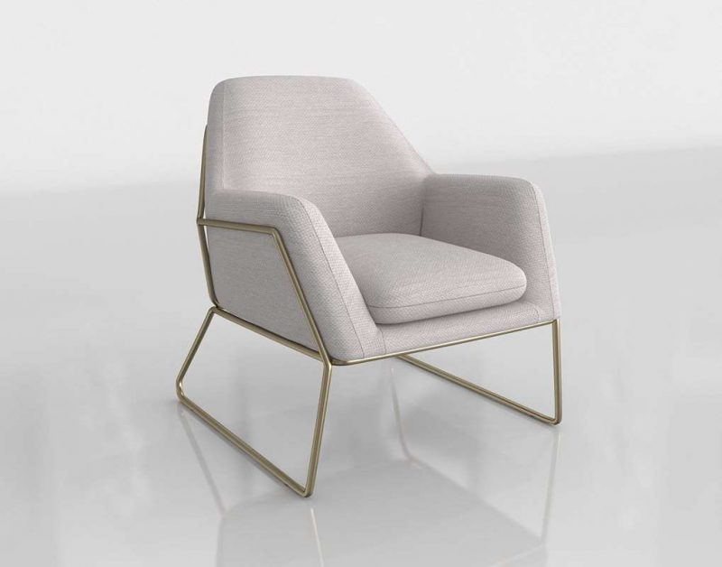 3D Chair Article Ivory Milky Way
