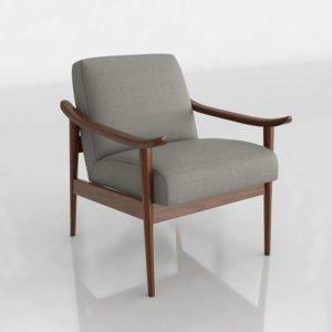 Westelm Mid Century Show Wood Chair Performance Basketweave Metal