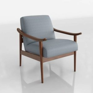 Westelm Mid Century Show Wood Upholstered Chair Crossweave Ming