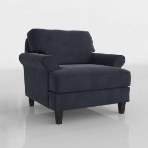 Velvet Chair 3D Modeling