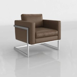 WilliamsSonoma Harrow Armchair Italian Distressed Leather Solid Toffee