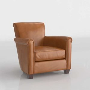 Potterybarn Irving Leather Armchair Vintage Cocoa