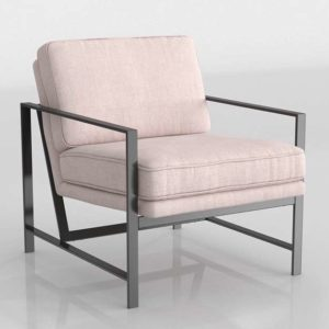 Metal Frame Chair Dusty Blush