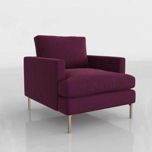 Bowen Chair Velvet Mulberry
