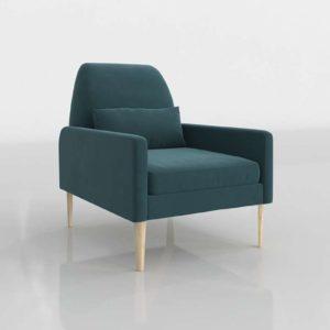 Westelm Smythe Velvet Chair