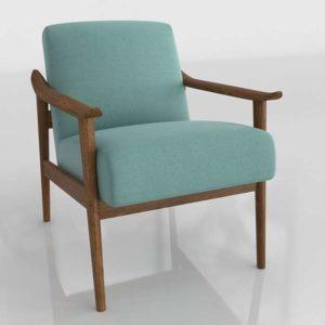 Westelm Mid Century Show Wood Chair Heathered Weav