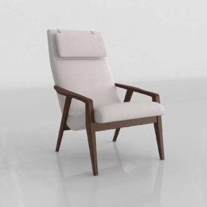 Westelm Contour Mid Century Chair Cloth Wheat