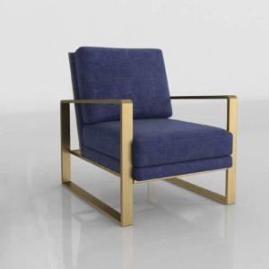Tovfurniture Mott Navy Slub Velvet Chair