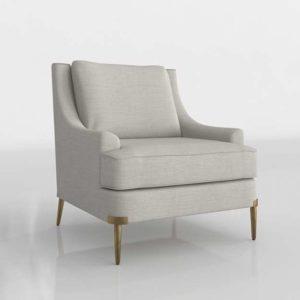 Lyra Chair Glancing Eye 3D Model