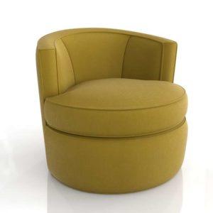 Room&Board Otis Swivel Chair Vance Mustard