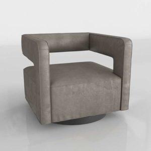 Restorationhardware Drew Leather Swivel Chair