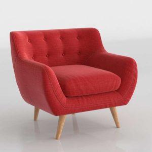 Wayfair Mid-Century Modern Tufted Armchair