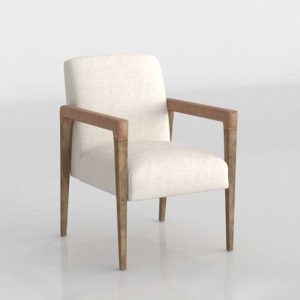 Westelm A-Frame Leather Accent Chair