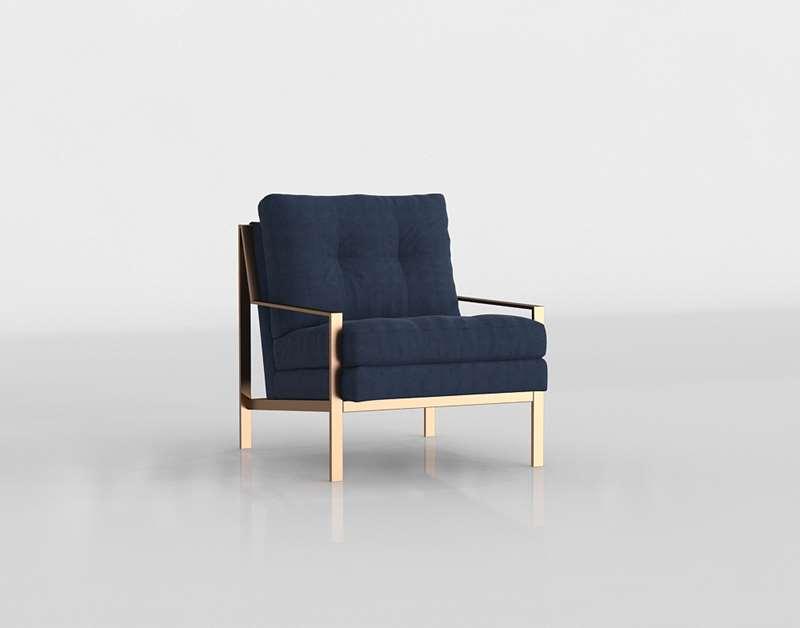 zgallerie Axel Indigo Accent Chair