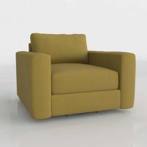 Westelm Urban Swivel Chair Plush Velvet Wasabi