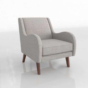 Westelm Sebastian Chair Deco Weave Feather
