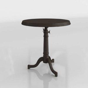 18th C French Tilt Top Brasserie Table Restoration Hardware 3D
