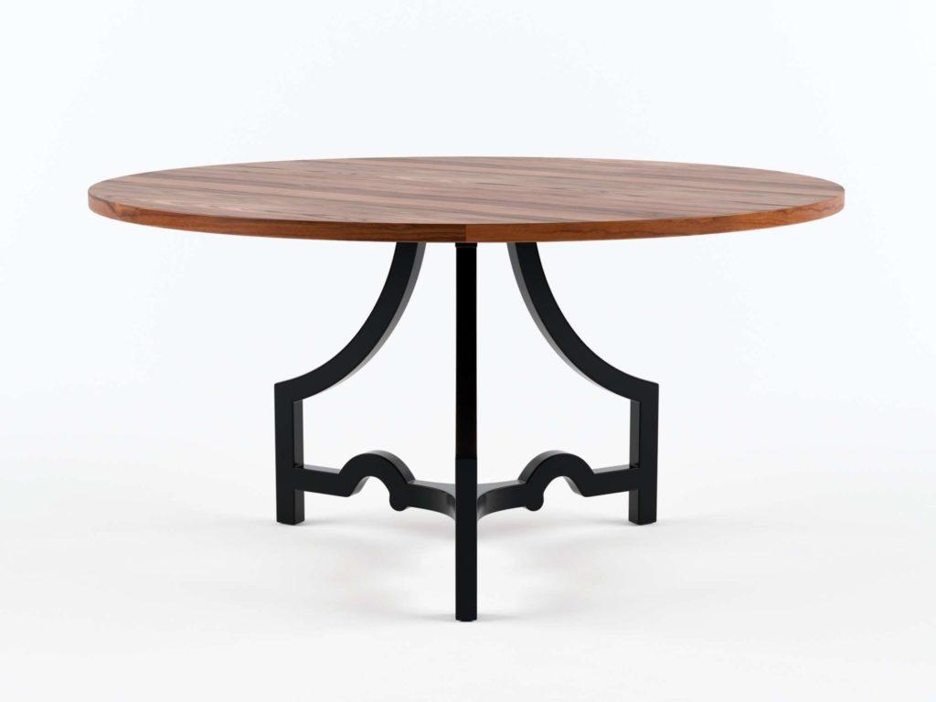 ZincDoor Noir Bran Dining Table