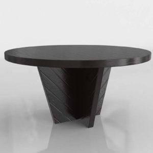Westelm Alexa Round Dining Table Burnished Black