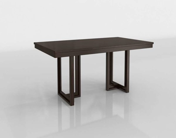 Homelivingfurniture Ocean Park Rectangular Counter Height Table