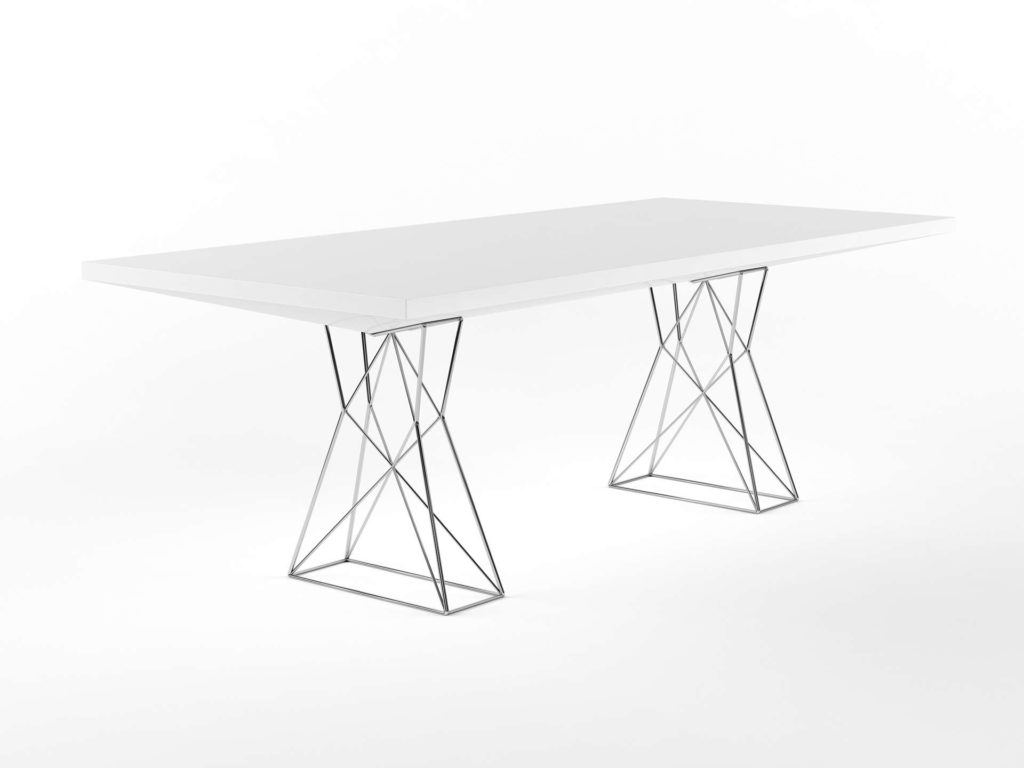 Yliving Curzon Dining Table White Lacquer