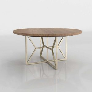 CrateAndBarrel Hayes Round Acacia Dining Table