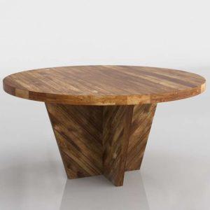 Westelm Alexa Round Dining Table Honey