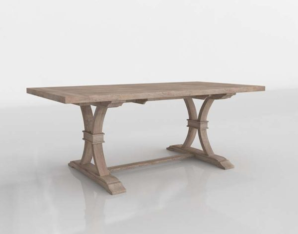 ZGallery Archer Wash Oak Extending Dining Table