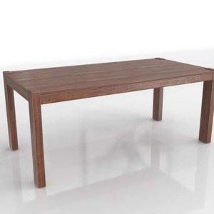 3D Model Boerum Dining Table WestElm