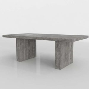 Timber Dining Table Zgallerie 3D