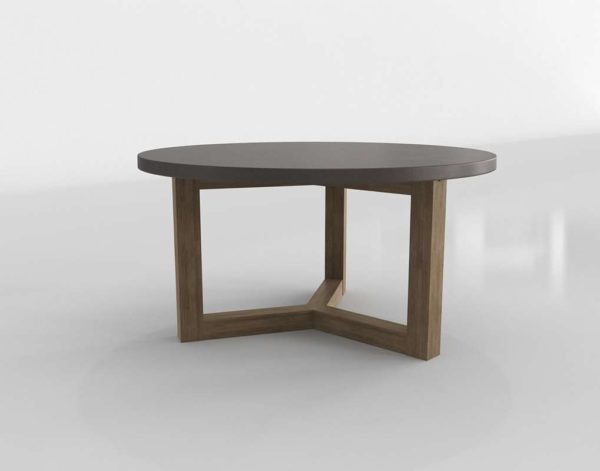 Woodward Dining Table 3DCrate&Barrel