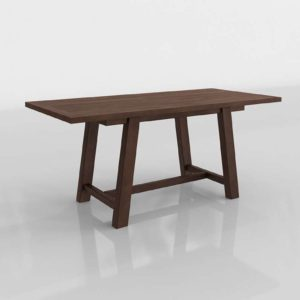 3D Bartol Fixed Reclaimed Dining Table PotteryBarn