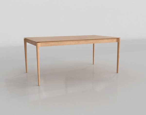 Unisonhome Kolmar Natural Extension Dining Table