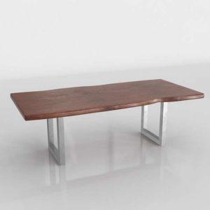 Westelm Live Edge Wood Dining Table