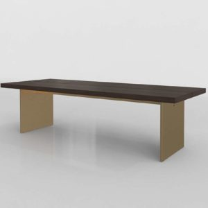 RHModern Channel Rectangular Dining Table