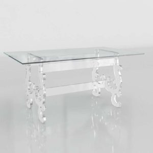 Wisteria Acrylic And Glass Dining Table