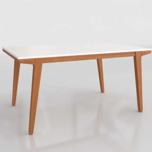 Westelm Modern Dining Table Lacquer Pecan
