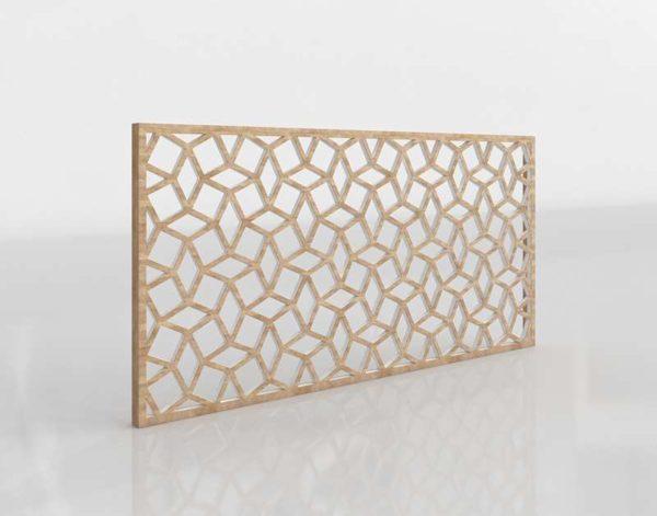 Cuadro 3D Geométrico de Madera Westelm Lattice
