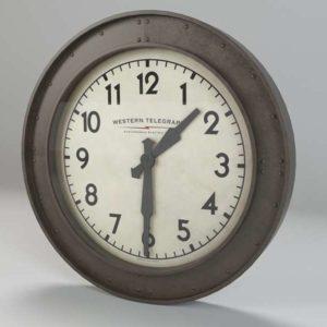 Reloj Vintage 3D de Pared