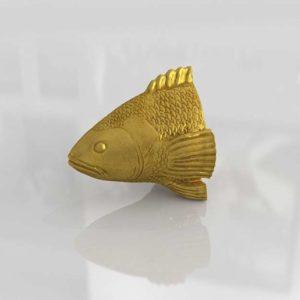 Escultura 3D de Pared CB2 Stan The Goldfish