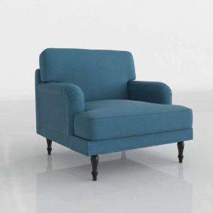 Sillón 3D IKEA Stocksund Turquesa