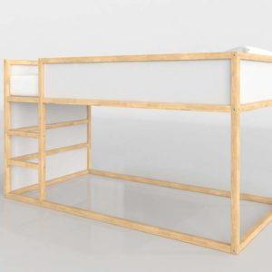 Cama Superior 3D IKEA Kura