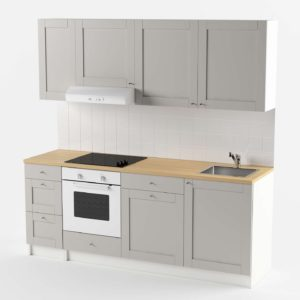 Cocina 3D IKEA Knoxhult