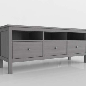 Mueble de TV 3D IKEA Hemnes Gris