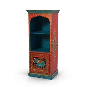 3D Model Elephant and Floral Motif Bookcase World Market