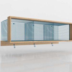 Aqua 3 Cube Shelf CrateAndBarrel