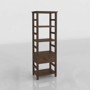 Paulsen Reclaimed 3D Model Bookcase