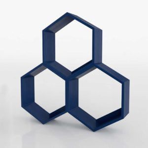 Honeycomb Hexagon 3DShelf Crate&Barrel